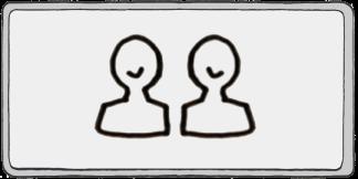 cartoon of two people — coaching